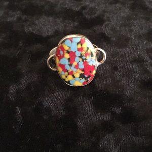 NEW!! Rainbow Mosaic Jasper Ring